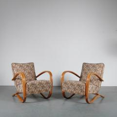 Jindrich Halabala Pair of Jindrich Halabala H 269 Chairs for Up Zadovy from Czech 1930 - 1361523