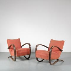 Jindrich Halabala Pair of Jindrich Halabala H 269 Chairs for Up Zavody 1930 - 1390591