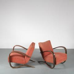 Jindrich Halabala Pair of Jindrich Halabala H 269 Chairs for Up Zavody 1930 - 1390594