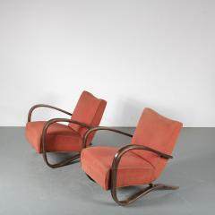 Jindrich Halabala Pair of Jindrich Halabala H 269 Chairs for Up Zavody 1930 - 1390600