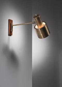 Jo Hammerborg Full Brass Jo Hammerborg Wall Spotlight For Fog Morup Denmark 1960s - 2128498