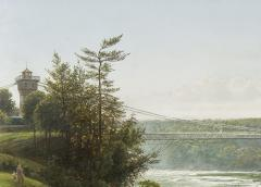 Joachim Ferdinand Richardt Suspension Bridge over the Niagara River - 924578
