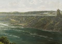Joachim Ferdinand Richardt Suspension Bridge over the Niagara River - 924579