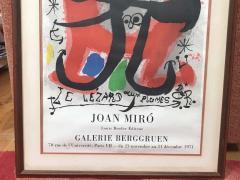 Joan Mir Le Lezard a Plumes dOr Poster by Joan Miro - 1634265