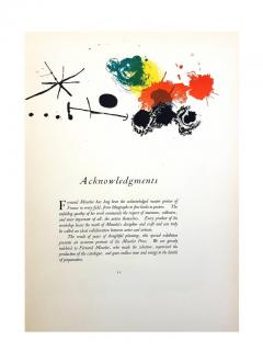 Joan Miro Joan Miro Abstract Composition Original Lithograph 1964 - 1077716