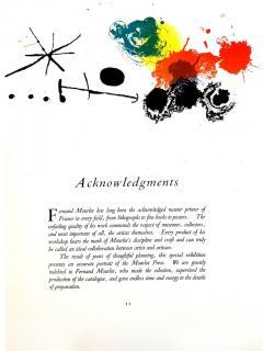 Joan Miro Joan Miro Abstract Composition Original Lithograph 1964 - 1077717