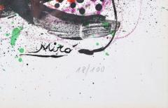 Joan Miro Joan Miro Lithograph Ma de Proverbis Signed and Numbered 18 100 - 519559