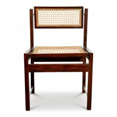 Joaquim Tenreiro Brazilian Hardwood Tilt Back Caned Dining Chairs   454672