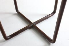 Joaquim Tenreiro Mid Century Modern Side Table in Wood and Glass Top Designed by Joaquim Tenreiro - 1233278