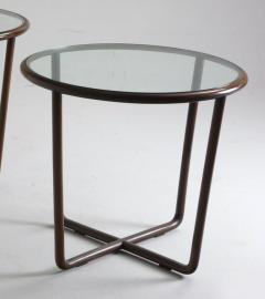 Joaquim Tenreiro Mid Century Modern Side Table in Wood and Glass Top Designed by Joaquim Tenreiro - 1233279