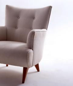 Joaquim Tenreiro Mid Century Modern Upholstery Lounge Chair by Joaquim Tenreiro Brazil 1956 - 1542119