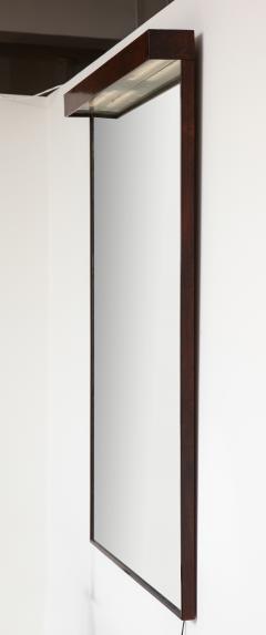 Joaquim Tenreiro Mid Century Modern Wall Mirror with Built in Light by Joaquim Tenreiro Brazil - 1615484