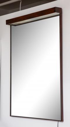 Joaquim Tenreiro Mid Century Modern Wall Mirror with Built in Light by Joaquim Tenreiro Brazil - 1615487