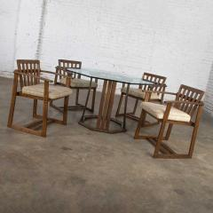 Jobie G Redmond Stavoak dining game table 4 chairs from jack daniels barrel staves by jobie - 1765225
