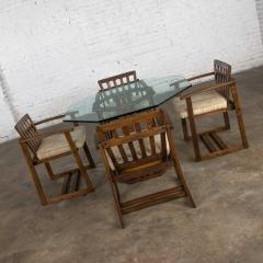 Jobie G Redmond Stavoak dining game table 4 chairs from jack daniels barrel staves by jobie - 1765275