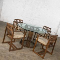 Jobie G Redmond Stavoak dining game table 4 chairs from jack daniels barrel staves by jobie - 1765283