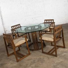 Jobie G Redmond Stavoak dining game table 4 chairs from jack daniels barrel staves by jobie - 1765303