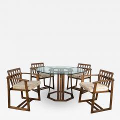 Jobie G Redmond Stavoak dining game table 4 chairs from jack daniels barrel staves by jobie - 1766183