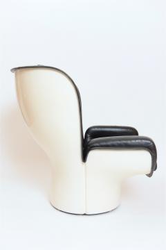 Joe Colombo Black and White Elda Chair by Joe Colombo Italy c 1960 - 1089348