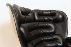 Joe Colombo Black and White Elda Chair by Joe Colombo Italy c 1960 - 1089351