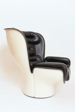 Joe Colombo Black and White Elda Chair by Joe Colombo Italy c 1960 - 1089355