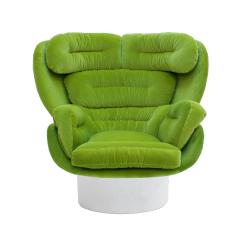 Joe Colombo Joe Colombo Mid Century Modern Green Velvet Elda Italian Lounge Chair - 1833089