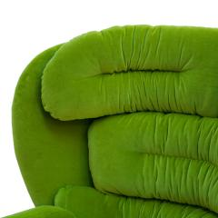 Joe Colombo Joe Colombo Mid Century Modern Green Velvet Elda Italian Lounge Chair - 1833094