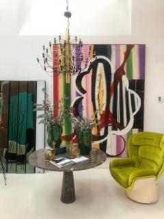 Joe Colombo Joe Colombo Mid Century Modern Green Velvet Elda Italian Lounge Chair - 1833095