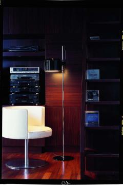 Joe Colombo Joe Colombo Model 3321 Coup Floor Lamp in Black for Oluce - 1640225