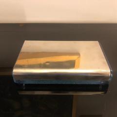 Joe Colombo Joe Colombo for Arnolfo di Cambio Silver and Crystal Biglia Cigarette Box 1968 - 1011235