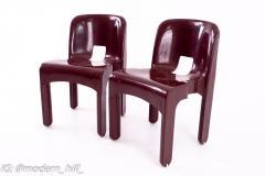 Joe Colombo Kartell Mid Century Plastic Chairs Pair - 1871657