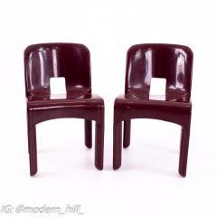 Joe Colombo Kartell Mid Century Plastic Chairs Pair - 1871658