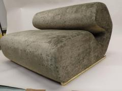 Joe Colombo Rare Italian Mid Century Modern Curvilinear Sofa or Settee Joe Colombo 1970 - 1672275