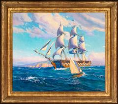 Joe Duncan Gleason Battleship USS OHIO Leaving San Pedro 1849 - 1508703