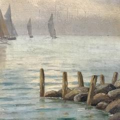 Johan Neumann 1860 1940 Danish Seascape With Ships - 1701900