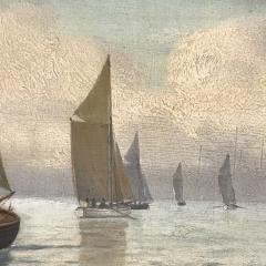 Johan Neumann 1860 1940 Danish Seascape With Ships - 1701901
