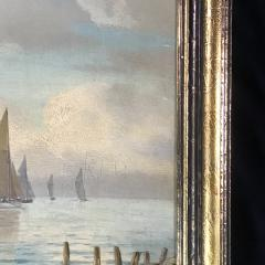Johan Neumann 1860 1940 Danish Seascape With Ships - 1701904