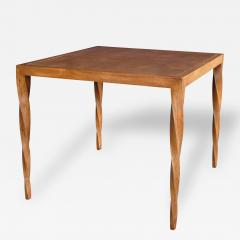 Johan Tapp A Rare American Ash Wood Square Game Table By Johan Tapp   115445