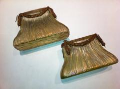 Johann L tz Witwe Pair Art Nouveau Loetz Bronze Mount Vases - 79200