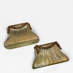 Johann L tz Witwe Pair Art Nouveau Loetz Bronze Mount Vases - 79392