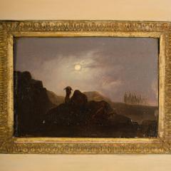 Johann Mongels Culverhouse Johann Mongels Culverhouse Dutch 1820 1891 Camel in Full Moon painting - 2128828