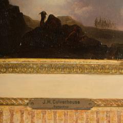 Johann Mongels Culverhouse Johann Mongels Culverhouse Dutch 1820 1891 Camel in Full Moon painting - 2128829