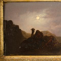 Johann Mongels Culverhouse Johann Mongels Culverhouse Dutch 1820 1891 Camel in Full Moon painting - 2128830