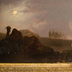 Johann Mongels Culverhouse Johann Mongels Culverhouse Dutch 1820 1891 Camel in Full Moon painting - 2128831