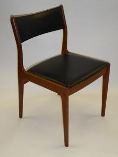 Johannes Andersen FOUR Teak Danish Dining Chairs By Uldum Mobelfabrik  Denmark   89873