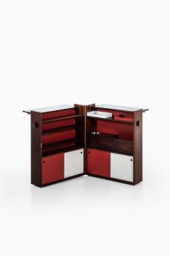Johannes Andersen Folding Bar Cabinet Produced by Dyrlund - 1860640