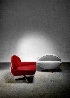 Johannes Andersen Johannes Andersen pair of Capri lounge chairs for Trensum 1960s - 1185901