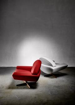Johannes Andersen Johannes Andersen pair of Capri lounge chairs for Trensum 1960s - 1185903