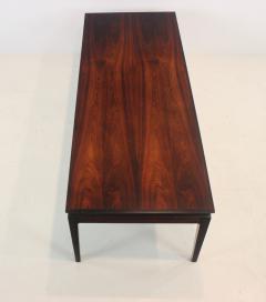 Johannes Andersen Scandinavian Modern Rosewood Coffee Table with Extension by Johannes Andersen - 1773219