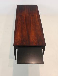 Johannes Andersen Scandinavian Modern Rosewood Coffee Table with Extension by Johannes Andersen - 1773220